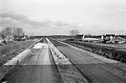 Nederland, Wijchen, 15-2-1974Aanleg van de snelweg A50 tussen Arnhem en Oss . Later werd de weg uitgebried en ging van Zwolle tot EindhovenFoto: Flip Franssen