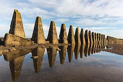 Crammond Beach stone monuments (c) Ross Eaglesham| Edinburgh Elite media