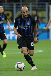 October 21, 2018 - Milan, Milan, Italy - Borja Valero #20 of FC Internazionale Milano in action during the serie A match between FC Internazionale and AC Milan at Stadio Giuseppe Meazza on October 21, 2018 in Milan, Italy. (Credit Image: © Giuseppe Cottini/NurPhoto via ZUMA Press)