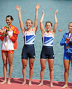 Eton Dorney, Windsor, Great Britain,..2012 London Olympic Regatta, Dorney Lake. Eton Rowing Centre, Berkshire.  Dorney Lake.  .GBR LW 2X Gold Medalist, Bow. Kat COPELAND and Sophie HOSKING..12:34:46  Saturday  04/08/2012 [Mandatory Credit: Peter Spurrier/Intersport Images]