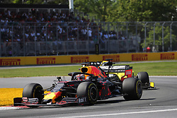 June 9, 2019 - Montreal, Canada - xa9; Photo4 / LaPresse.09/06/2019 Montreal, Canada.Sport .Grand Prix Formula One Canada 2019.In the pic: Max Verstappen (NED) Red Bull Racing RB15 and Daniel Ricciardo (AUS) Renault Sport F1 Team RS19 (Credit Image: © Photo4/Lapresse via ZUMA Press)