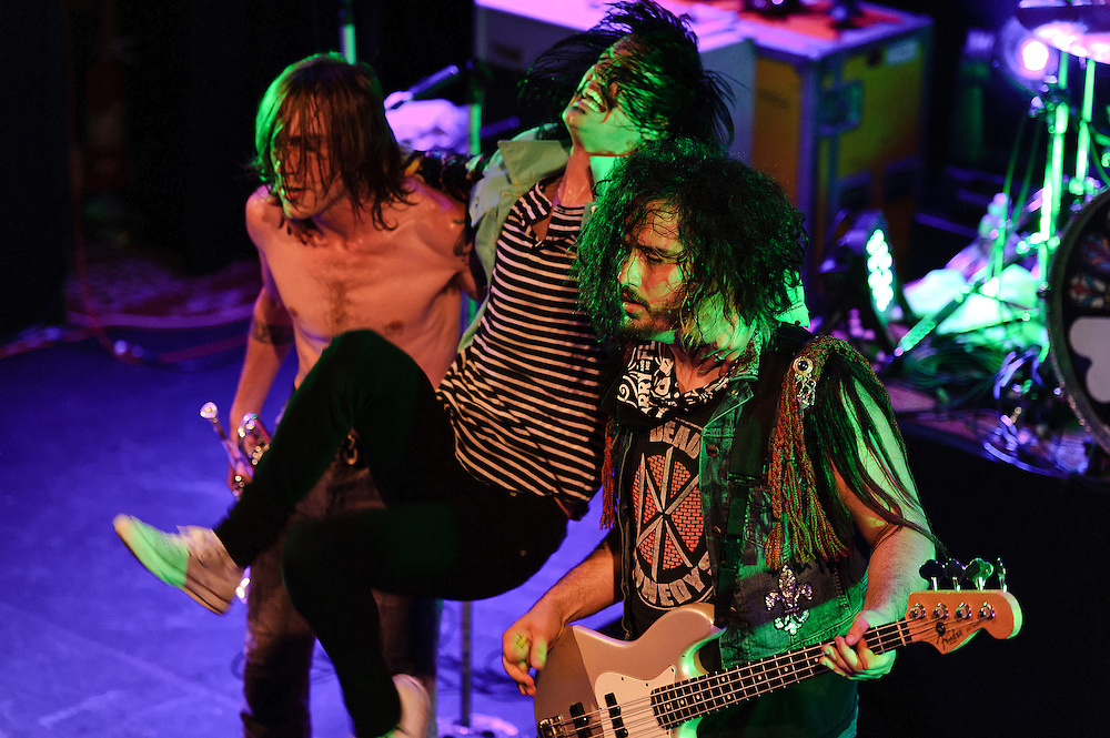 Photos of the rock band Foxy Shazam performing at Bowery Ballroom, NYC. May 16, 2012. Copyright © 2012 Matthew Eisman. All Rights Reserved.