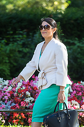 Downing Street, London, July 19th 2016. International Development Secretary Priti Patel arrives at the first full cabinet meeting since Prime Minister Theresa May took office.