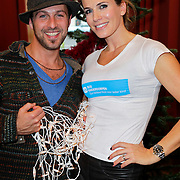 NLD/Amsterdam/20111208- Sky Radio Christmas tree for Charity, Danielle Oerlemans en Christoph Haddad