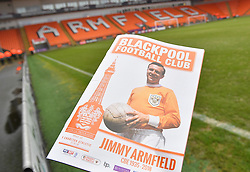 The match day program infant of the Armfield stand