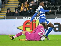Football - 2019 / 2020 Sky Bet (EFL) Championship - Swansea City vs. Queens Park Rangers<br /> <br /> Bright Samuel of QPR denied by Freddie Woodman of Swansea City, at The Liberty Stadium.<br /> <br /> COLORSPORT/WINSTON BYNORTH