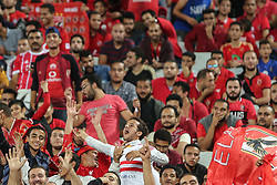 November 2, 2018 - Alexandria, Egypt - Al-Zamalek fan support Al-Ahly team during their first leg of Final African Champions League CAF match Between Al Ahly and Esperance de Tunis at Borg Al Arab Stadium, on 2 November ,2018. (Credit Image: © Ahmed Awaad/NurPhoto via ZUMA Press)