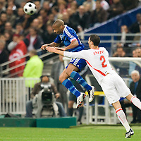 14 October 2008: French forward and captain Thierry Henry (left) vies with Seif Ghezel #2 during the friendly football match won 3-1 by France over Tunisia on October 14, 2008, at the Stade de France in Saint-Denis, near Paris, France.