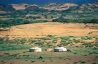 Mongolie, Province de Ovorkhangai, campement nomade // Mongolia, Ovorkhangai province, Nomad camp