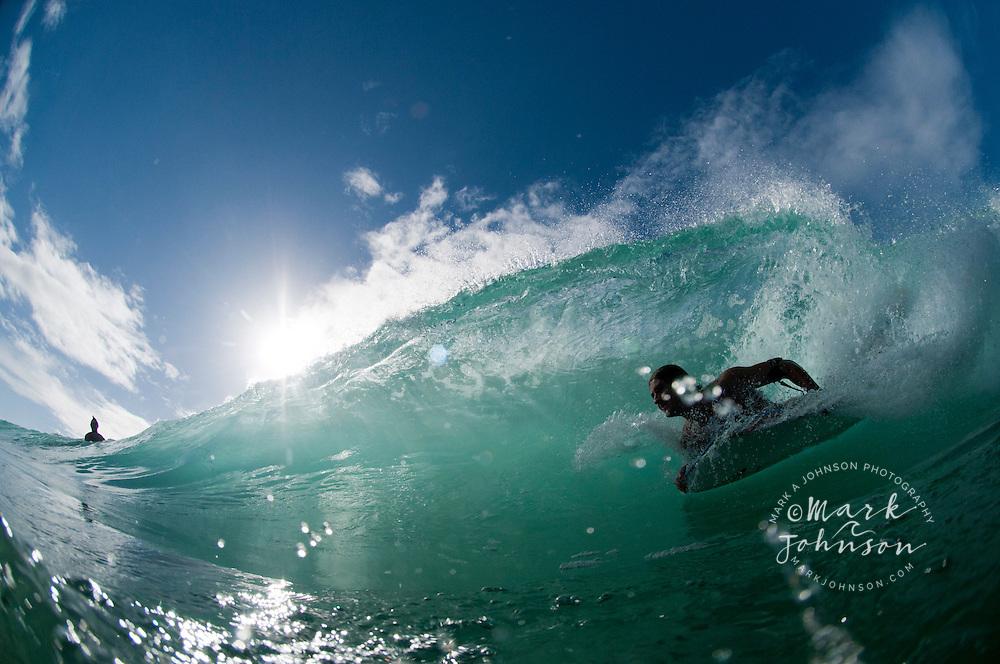 Bodyboarding on the Gold Coast, Queensland, Australia