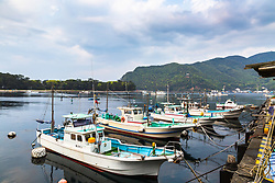 Fishing Boats, Heda Port, Izu Peninsula Japan. It is remarkable to me how much different Japanese fishing boats has such a different design than those of the USA