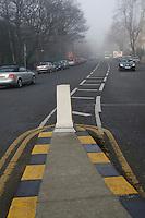 Traffic island in Ballsbridge Dublin Ireland