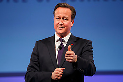 © Licensed to London News Pictures. 10/11/2014. LONDON, UK. Prime Minister David Cameron delivers a speech at the 2014 Confederation of British Industry (CBI) Conference, held at the Hilton Metropole in London. Photo credit : Tolga Akmen/LNP