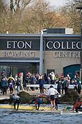 Eton, Great Britain, Crews boating outside the boathouse. 2009 Scullery Dorney Lake, Eton Rowing Centre, 09.03.2009 [Mandatory Credit Peter Spurrier] Rowing Courses, Dorney Lake, Eton. ENGLAND