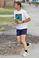 Augusta, New Jersey - A Runners competes in the 72-hour race during the 3 Days at the Fair races at Sussex County Fairgrounds on May 12, 2012.