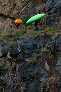 061210-Morrison, COLORADO-wildwaterart-Kayakers white water rapids Saturday, June 12, 2010 on Bear Creek. Heavy rain fall at higher elevations has caused the normally peaceful creek to swell. .Photo By Matthew Jonas/Evergreen Newspapers/Photo Editor