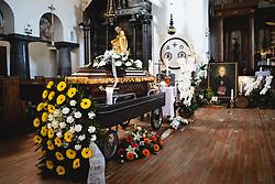 coffin during funeral of former bishop Jozef Smej, on November 24, 2020 in Bogojina, Slovenia. Photo by Blaž Weindorfer / Sportida