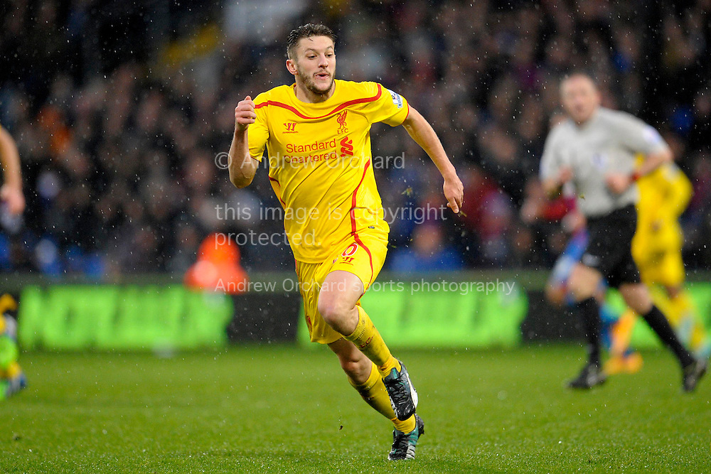 Adam Lallana of Liverpool. Barclays Premier league match, Crystal Palace v Liverpool at Selhurst Park in London on Sunday 23rd November 2014.<br /> pic by John Patrick Fletcher, Andrew Orchard sports photography.