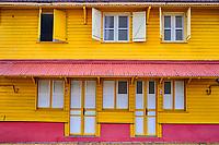 France, Martinique, Saint-Esprit, façade colorée // France, West Indies, Martinique, Saint-Esprit, colored house