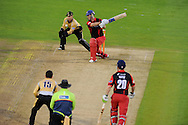Glamorgan batsman Jim Allenby in action. Friends Life T20 match, Glamorgan Dragons v Warwickshire Bears at the Swalec stadium in Cardiff, South Wales on Sunday 17th June 2012. pic by Andrew Orchard, Andrew Orchard sports photography,