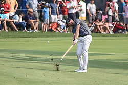 August 12, 2018 - Town And Country, Missouri, U.S - DANIEL BERGER from Jupiter Florida, USA  hits from the 18th fairway during round four of the 100th PGA Championship on Sunday, August 12, 2018, held at Bellerive Country Club in Town and Country, MO (Photo credit Richard Ulreich / ZUMA Press) (Credit Image: © Richard Ulreich via ZUMA Wire)