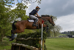 April 23, 2017 - Henley On Thames, OXFORDSHIRE, UK - Henley on Thames, UK. Participants take part in the Hambleden Horse Trials.  Celebrating its 20th anniversary, the eventing competition includes disciplines of dressage, show jumping and a cross country element which takes place through bluebell woods. (Credit Image: © Stephen Chung/London News Pictures via ZUMA Wire)