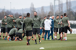 April 2, 2018 - Vinovo, Piedmont/Turin, Italy - Gonzalo Higuain during the training session before the Champions League match against Real Madrid, in Vinovo at Juventus Center, Italy 2nd April 2018  (Credit Image: © Alberto Gandolfo/Pacific Press via ZUMA Wire)