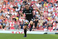 West Ham United midfielder Mark Noble (16) during the Premier League match between Arsenal and West Ham United at the Emirates Stadium, London, England on 22 April 2018. Picture by Bennett Dean.