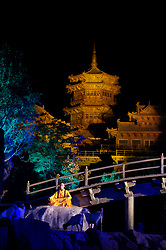 chinese master, pagoda, play, theater