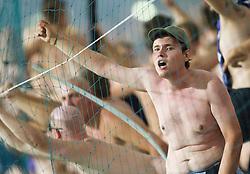 Viole, fans of Maribor during football match between NK Maribor and APOEL FC, (Cyprus) in Third qualifying round, Second leg of UEFA Champions League 2014, on August 6, 2013 in Stadium Ljudski vrt, Maribor, Slovenia. (Photo by Vid Ponikvar / Sportida.com)