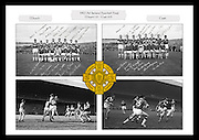 A collage of images from the 1967 All Ireland Football Final between Meath and Cork, played at Croke Park on 24th September 1967.