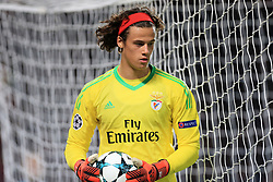 31st October 2017 - UEFA Champions League - Group A - Manchester United v SL Benfica - Benfica goalkeeper Mile Svilar - Photo: Simon Stacpoole / Offside.