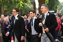 Caspar Jopling (left) arriving at York Minster for his wedding to singer Ellie Goulding.