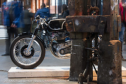 Raccia Motors 1967 Kawasaki W1R at the One Show motorcycle show in Portland, OR. February 14, 2016. ©2016 Michael Lichter
