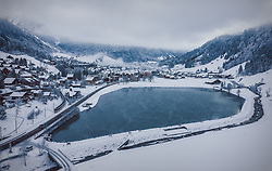THEMENBILD - Engelberg am Morgen, aufgenommen am 15. Dezember 2018 in Engelberg, Schweiz // Engelberg in the Morning, Engelberg, Switzerland on 2018/12/15. EXPA Pictures © 2018, PhotoCredit: EXPA/ JFK