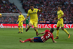October 28, 2017 - Madrid, Spain - Filipe Luis tackle..Draw at 1 in Wanda Metropolitano stadium. (Credit Image: © Jorge Gonzalez/Pacific Press via ZUMA Wire)