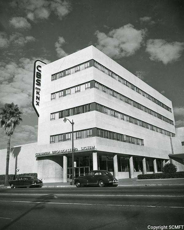 1947 CBS Radio on Sunset Blvd.