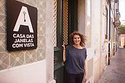"""Cristina Gaudencio, the manager of hotel """"Casa das Janelas com Vista"""""""