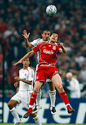 Athens, Greece - Wednesday, May 23, 2007: Liverpool's Xabi Alonso and AC Milan's Gennaro Gattuso during the UEFA Champions League Final at the OACA Spyro Louis Olympic Stadium. (Pic by David Rawcliffe/Propaganda)
