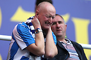 a Huddersfield Town shows his frustration after the final whistle as his team loses the game. EFL Skybet  championship match, Reading  v Huddersfield Town at The Madejski Stadium in Reading, Berkshire on Saturday 24th September 2016.<br /> pic by John Patrick Fletcher, Andrew Orchard sports photography.