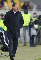 LVIV, UKRAINE - DECEMBER 07: Coach Iurii Vernydub of Zorya Luhansk.  UEFA Europa League Group J match between Zorya Luhansk and Athletic Bilbao at Arena Lviv in Lviv, Ukraine. December 07, 2017