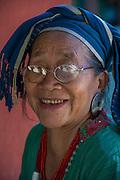 Nyshi woman<br /> Nyshi Tribe<br /> Arunachal Pradesh<br /> North East India