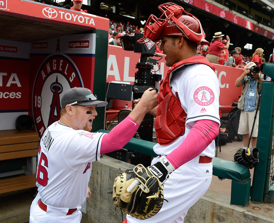 ///ADDITIONAL INFO:   <br /> <br /> angels.0509.kjs  ---  Photo by KEVIN SULLIVAN / Orange County Register  --  5/8/16<br /> <br /> The Los Angeles Angels take on the Tampa Bay Rays at Angel Stadium Sunday.<br /> <br />  5/8/16