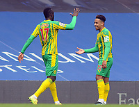 Football - 2020 / 2021 Premier League - Chelsea vs West Bromwich Albion - Stamford Bridge<br /> <br /> Matheus Pereira of West Brom celebrates scoring goal no 1<br /> With Mbaye Diagne of WBA<br /> <br /> Credit COLORSPORT/Andrew Cowie