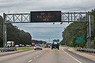 LED on Interstate 20  with infomation on where to get COCID_19 information.