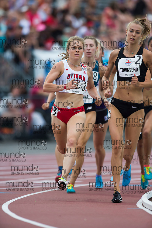 OTTAWA, ON -- 05 July 2018: Madison Clarke running in the 800m qualification round at the 2018 Athletics Canada National Track and Field Championships held at the Terry Fox Athletics Facility in Ottawa, Canada. (Photo by Sean Burges / Mundo Sport Images).