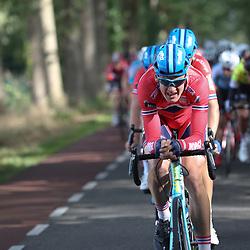 30-09-2016: Wielrennen: Olympia Tour: Zutphen<br /> ZUTPHEN (NED) wielrennen  <br /> Kristoffer Halvorsen heeft de vierde etappe van Olympia's Tour gewonnen. De voorbereidende werkzaamheden werden door zijn ploegmaats.