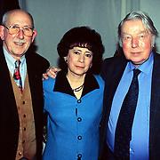 CD Uitreiking Eddy Christiani Hilversum, Harry de Groot en Marcel Thielemans en vrouw