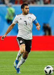 June 19, 2018 - Saint Petersburg, Russia - Ahmed Fathi of Egypt national team during the 2018 FIFA World Cup Russia group A match between Russia and Egypt on June 19, 2018 at Saint Petersburg Stadium in Saint Petersburg, Russia. (Credit Image: © Mike Kireev/NurPhoto via ZUMA Press)