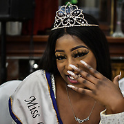 Miss Congo UK 2018-2019 Princess Deborah Tedika attend the Mr & Miss Congo 2020,on 29th February 2020 at Old Townhall,Stratford, London, UK.